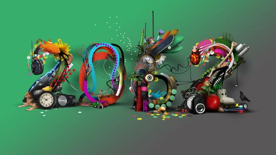 """Affiche Exposition """"2062, Aller-retour vers le futur"""" - La Gaite Lyrique"""