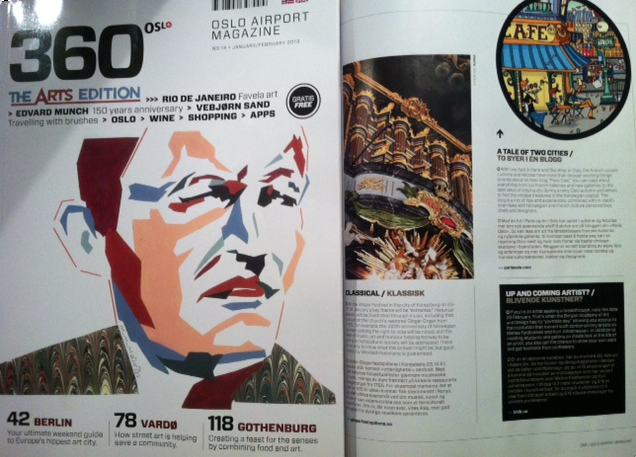 January-February 2013 : Norway : 360 Oslo Airport Magazine