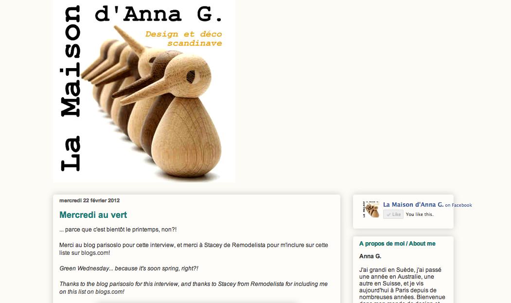 Blog La Maison d'Anna G