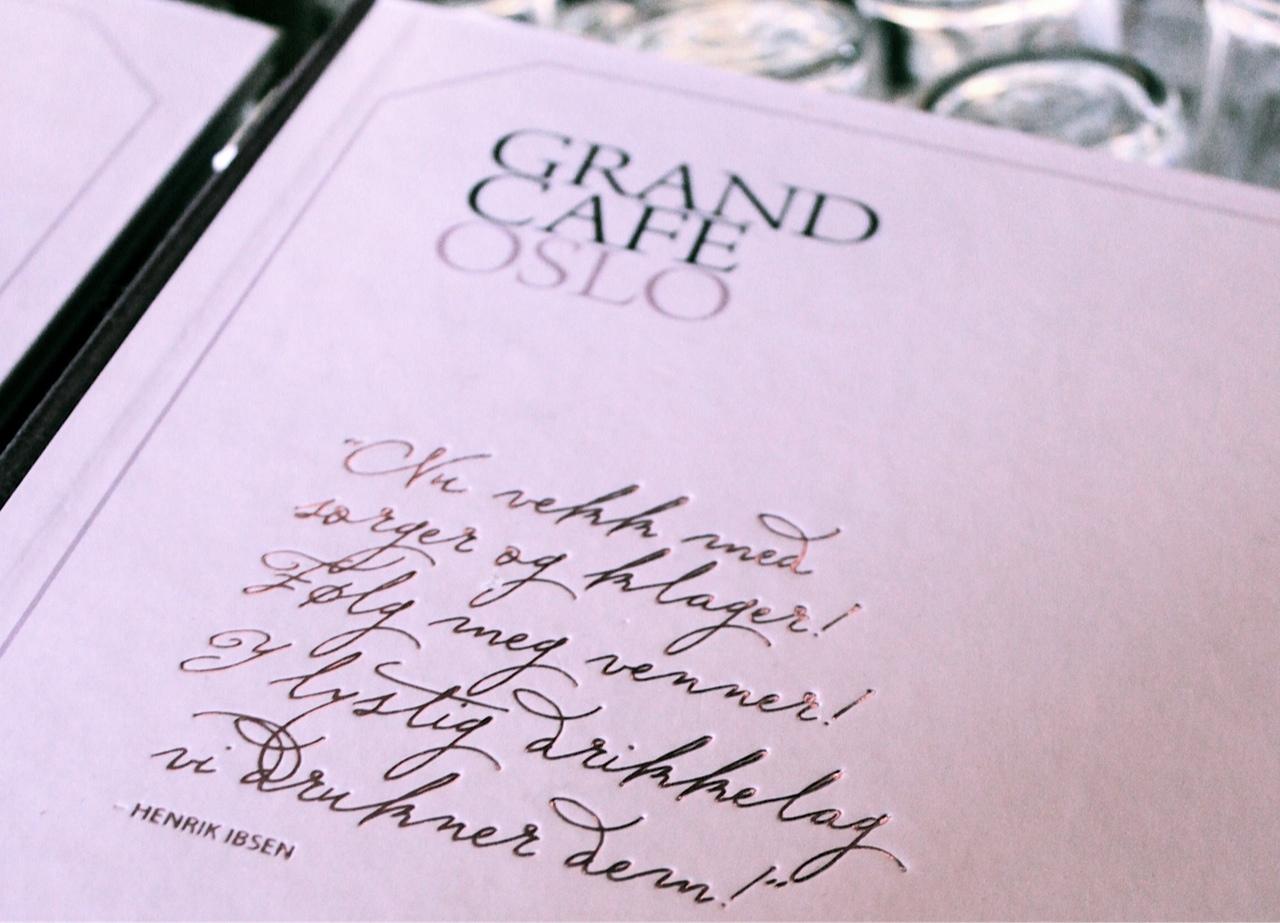 Menu Grand Hotel