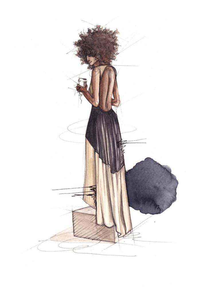emmeselle_afro - llustration by Emmeselle