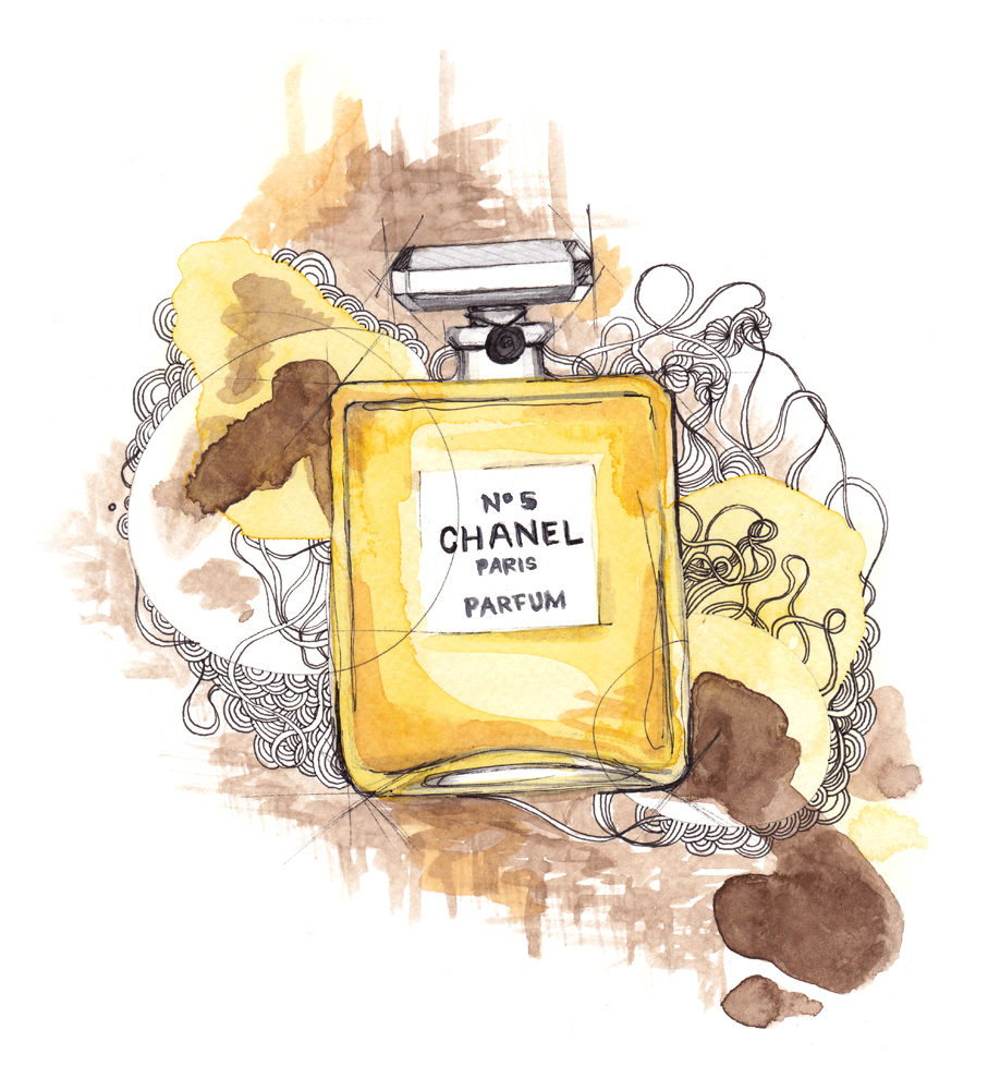 Illustration Chanel no5 by Emmeselle