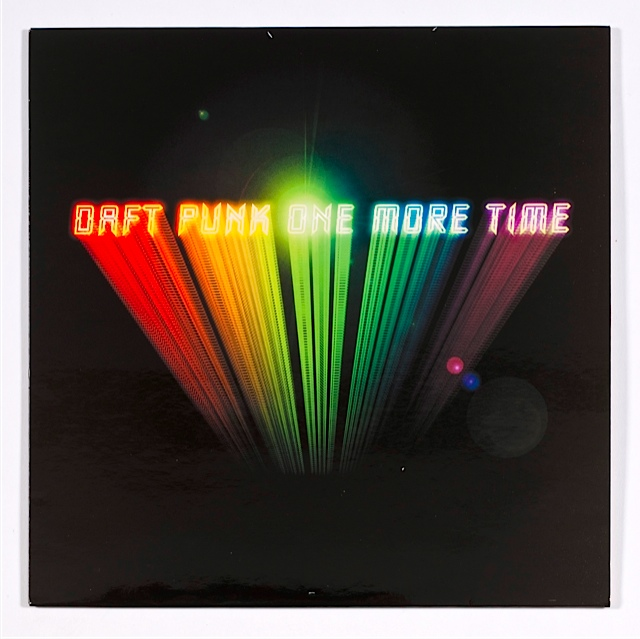 Alexandre Courtes, Daft Punk. One More Time, 2000, Virgin, vinyle/Exposition French Touch- Les Arts Decoratifs- Paris